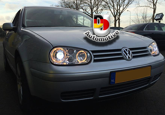 angel eyes koplampen voor vw golf 4 chroom dj automotive. Black Bedroom Furniture Sets. Home Design Ideas
