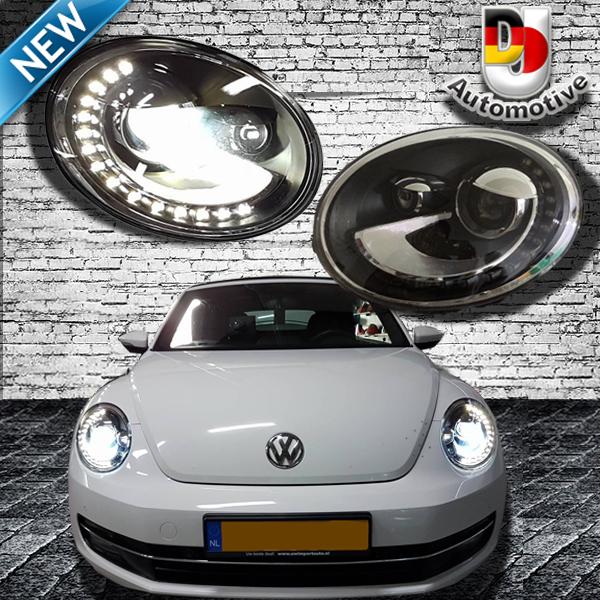 koplampen zwart voor vw beetle 5c incl cabrio met xenon. Black Bedroom Furniture Sets. Home Design Ideas